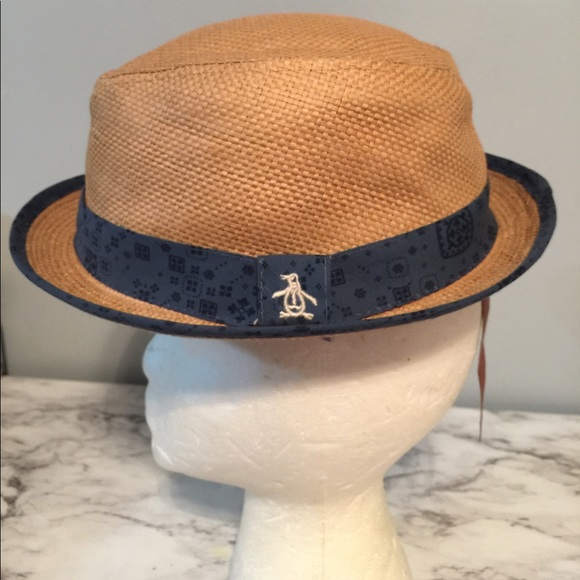 80537270a73 Penguin original fedora hat with blue band